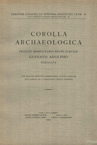 Corolla Archaeologica, Lund 1932