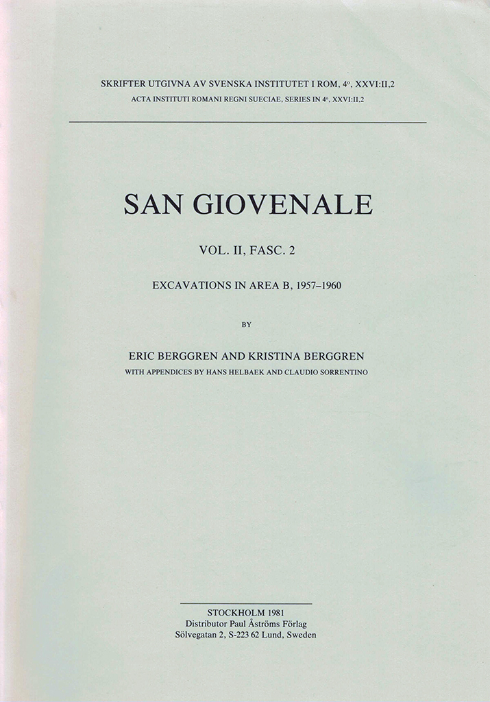 Front cover of San Giovenale 2:2