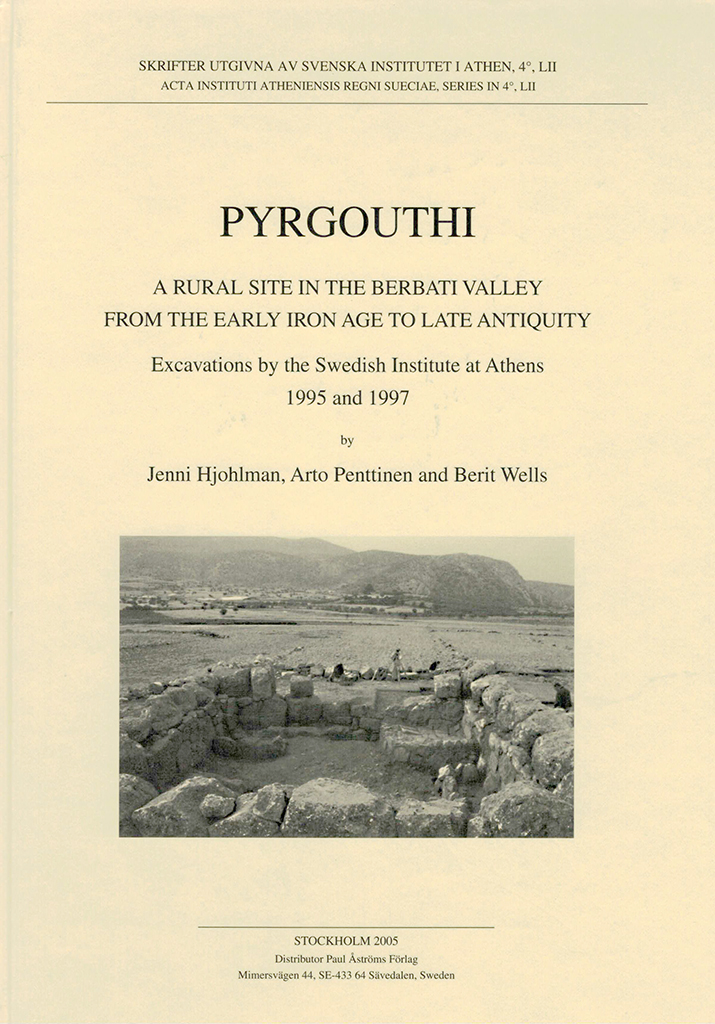 Front cover of Pyrgouthi. A rural site in the Berbati Valley