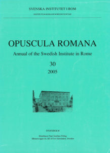Front cover of Opuscula Romana 30, 2005