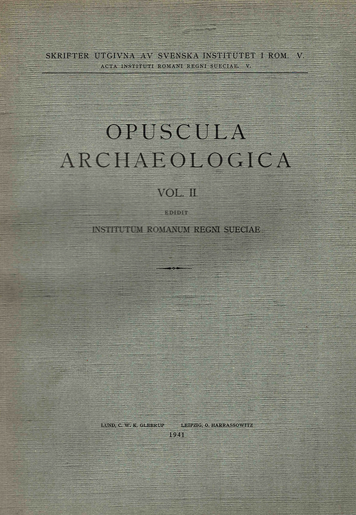 Opuscula Archaeologica 2